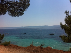 Walking to Zlatni Rat pebble beach